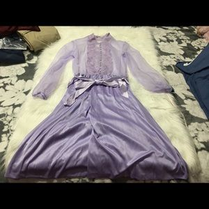 Vintage Handmade Lavender Slip Dress
